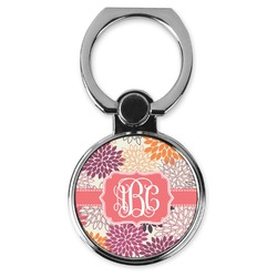 Mums Flower Cell Phone Ring Stand & Holder (Personalized)