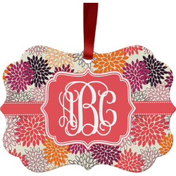 Mums Flower Ornament (Personalized)