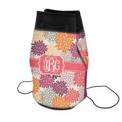 Mums Flower Neoprene Drawstring Backpack (Personalized)