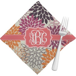 Mums Flower Napkins (Set of 4) (Personalized)