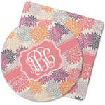 Mums Flower Rubber Backed Coaster (Personalized)