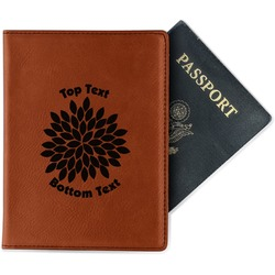 Mums Flower Leatherette Passport Holder (Personalized)