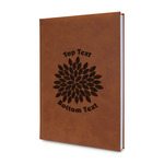 Mums Flower Leatherette Journal (Personalized)