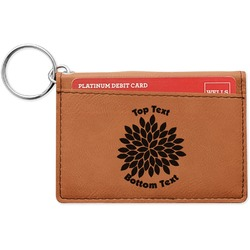 Mums Flower Leatherette Keychain ID Holder (Personalized)
