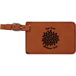 Mums Flower Leatherette Luggage Tag (Personalized)