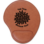 Mums Flower Leatherette Mouse Pad with Wrist Support (Personalized)