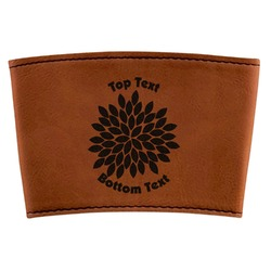 Mums Flower Leatherette Mug Sleeve (Personalized)