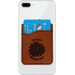 Mums Flower Leatherette Phone Wallet (Personalized)