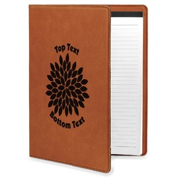 Mums Flower Leatherette Portfolio with Notepad (Personalized)