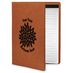 Mums Flower Leatherette Portfolio with Notepad - Small - Single Sided (Personalized)