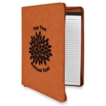 Mums Flower Leatherette Zipper Portfolio with Notepad (Personalized)