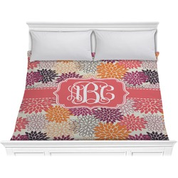 Mums Flower Comforter - King (Personalized)