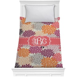 Mums Flower Comforter - Twin (Personalized)