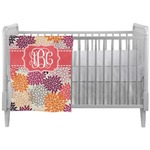 Mums Flower Crib Comforter / Quilt (Personalized)