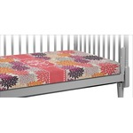 Mums Flower Crib Fitted Sheet (Personalized)