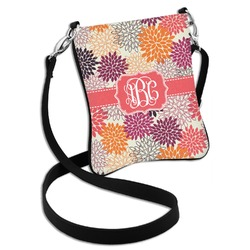 Mums Flower Cross Body Bag - 2 Sizes (Personalized)