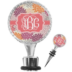 Mums Flower Wine Bottle Stopper (Personalized)