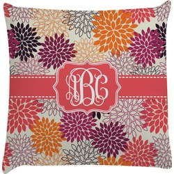 Mums Flower Decorative Pillow Case (Personalized)