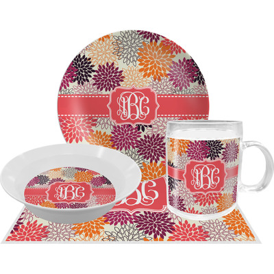Mums Flower Dinner Set - 4 Pc (Personalized)