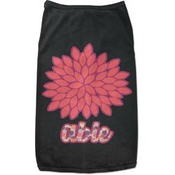 Mums Flower Black Pet Shirt - Multiple Sizes (Personalized)