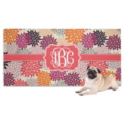 Mums Flower Dog Towel (Personalized)