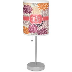"""Mums Flower 7"""" Drum Lamp with Shade Polyester (Personalized)"""