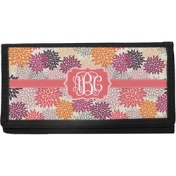 Mums Flower Canvas Checkbook Cover (Personalized)