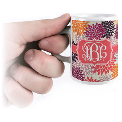 Mums Flower Espresso Mug - 3 oz (Personalized)