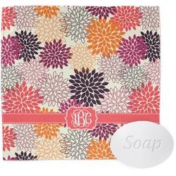 Mums Flower Washcloth (Personalized)