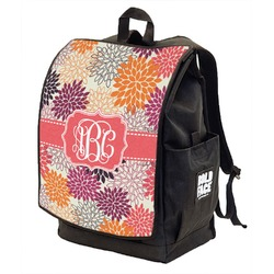 Mums Flower Backpack w/ Front Flap  (Personalized)