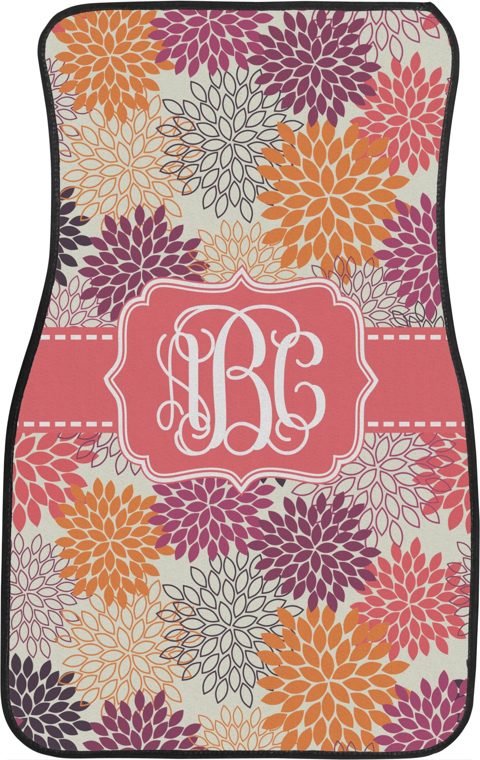 Mums Flower Car Floor Mats Front Seat Personalized