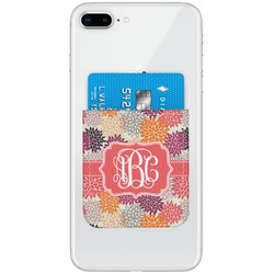 Mums Flower Genuine Leather Adhesive Phone Wallet (Personalized)