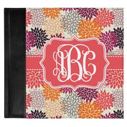 Mums Flower Genuine Leather Baby Memory Book (Personalized)