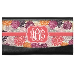 Mums Flower Genuine Leather Ladies Wallet (Personalized)