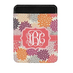 Mums Flower Genuine Leather Money Clip (Personalized)