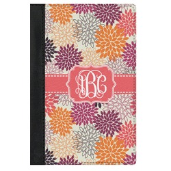 Mums Flower Genuine Leather Passport Cover (Personalized)