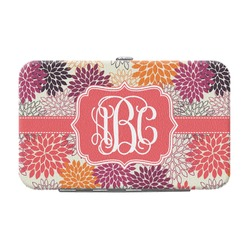Mums Flower Genuine Leather Small Framed Wallet (Personalized)