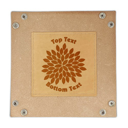 Mums Flower Genuine Leather Valet Tray (Personalized)