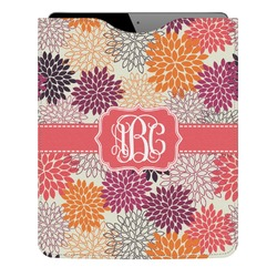 Mums Flower Genuine Leather iPad Sleeve (Personalized)