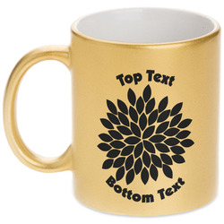 Mums Flower Gold Mug (Personalized)