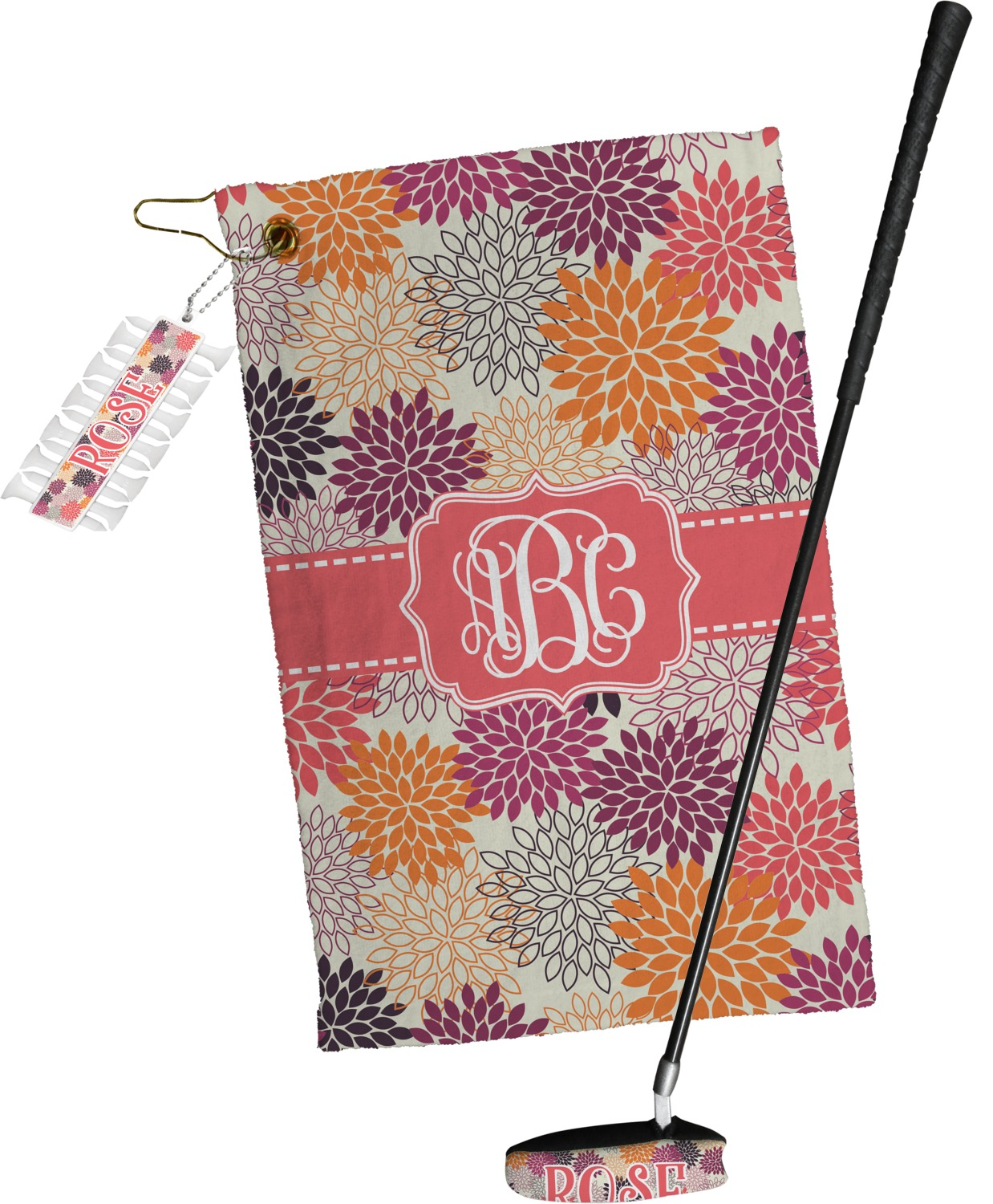 Mums Flower Golf Tees & Ball Markers Set (Personalized ...