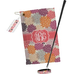 Mums Flower Golf Towel Gift Set (Personalized)