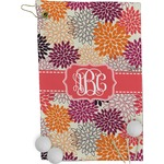 Mums Flower Golf Towel - Full Print (Personalized)