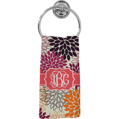 Mums Flower Hand Towel - Full Print (Personalized)
