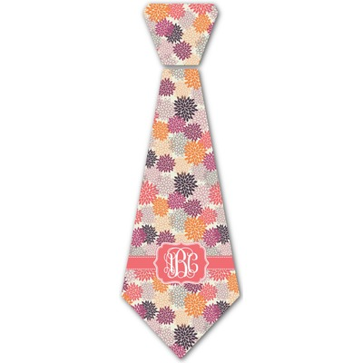 Mums Flower Iron On Tie (Personalized)
