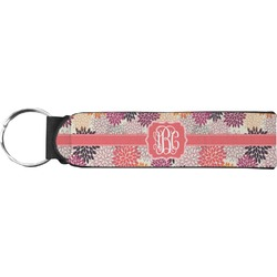Mums Flower Keychain Fob (Personalized)