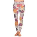 Mums Flower Ladies Leggings (Personalized)