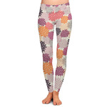 Mums Flower Ladies Leggings (Personalized)