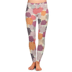Mums Flower Ladies Leggings - Large (Personalized)