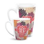 Mums Flower Latte Mug (Personalized)